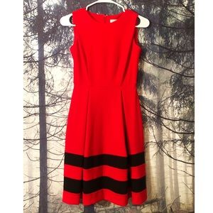 Calvin Klein Red & Black Dress